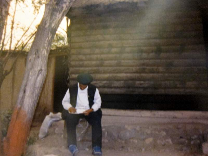 Writing the copy on how Mushkoh Valley was secured; it would later have to be phoned in