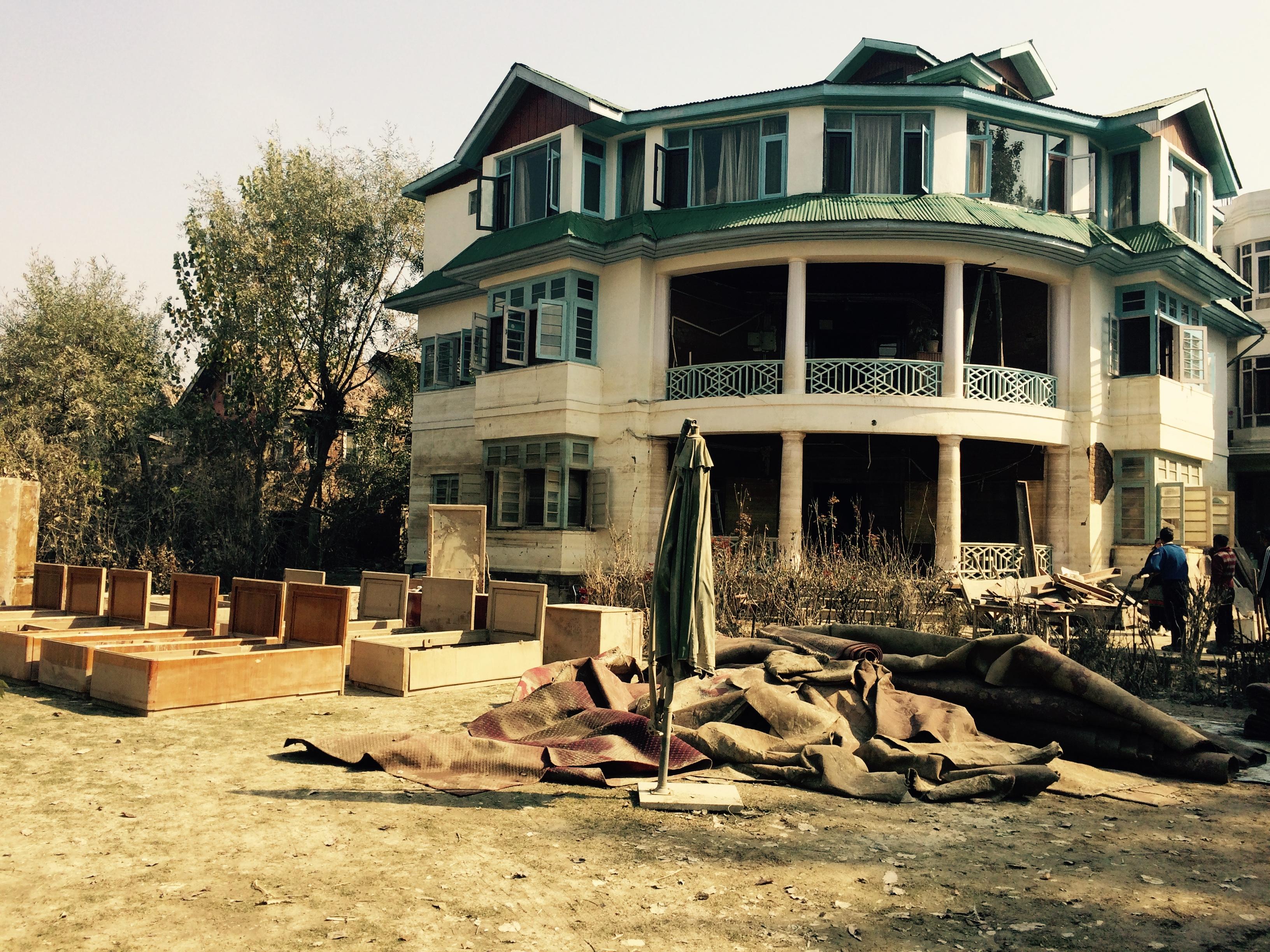 Cuckoo Wazir's sabred mansion in Rajbagh, Srinagar