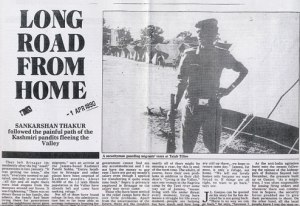 The Telegraph report on the first wave of Kashmir migration in early 1990